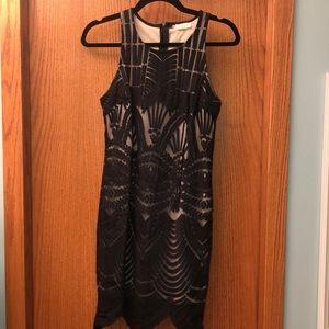Black Lacy Fancy Dress